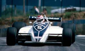 Piquet cruising before his engine blew