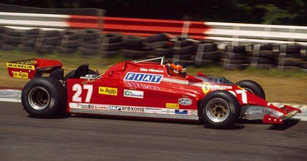 Gilles Villeneuve in the new 126CK at Zolder.